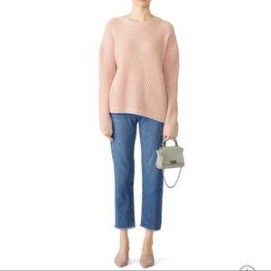 Vince asymmetrical pink sweater